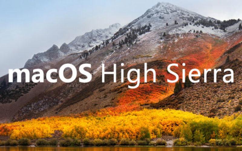 MacOS 10.13 High Sierra Release