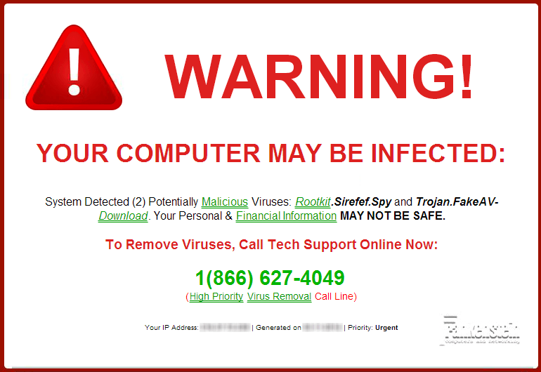 FAKE VIRUS POP-UP SCAM - Frankenstein Computers, Austintatious IT Support